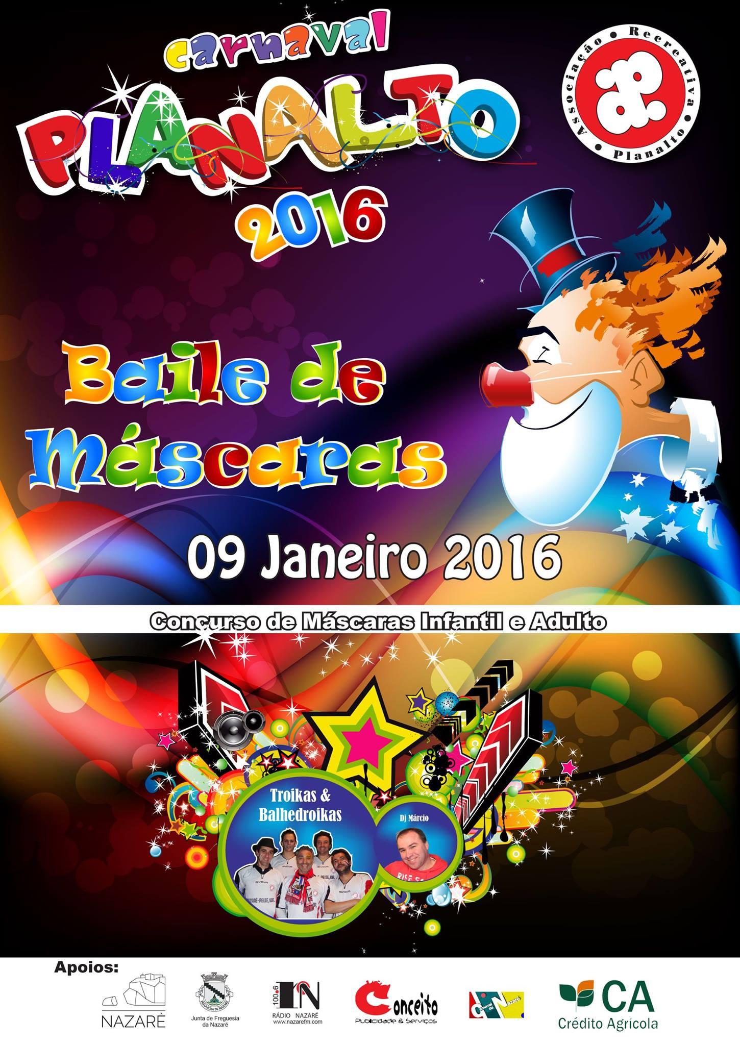 cartaz baile mascaras planalto 2016