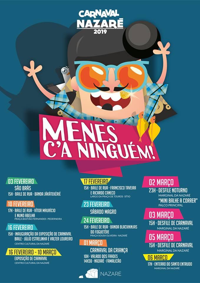 Cartaz Oficial do Carnaval da Nazaré 2019